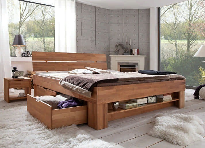 bett thomas 140 wildeiche massiv ge lt so 140 sofie. Black Bedroom Furniture Sets. Home Design Ideas