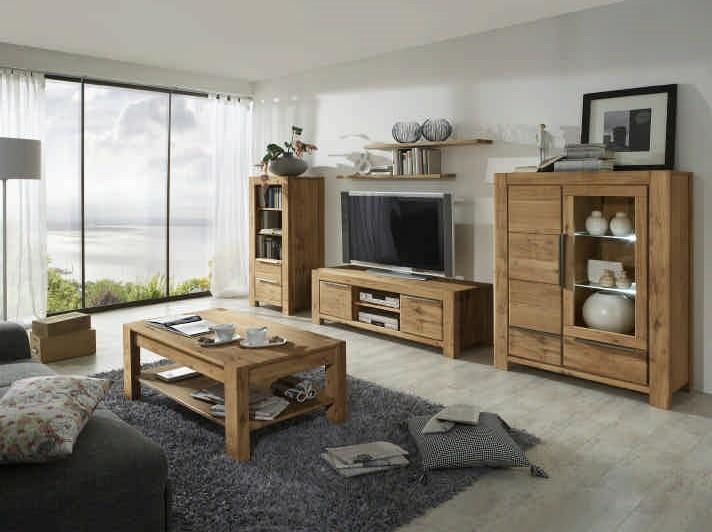wohnwand nemo wildeiche massiv ge lt wohnwand nena wildeiche. Black Bedroom Furniture Sets. Home Design Ideas